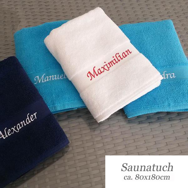 Häufig Saunatuch mit Namen | Weberei & Stickerei SC66